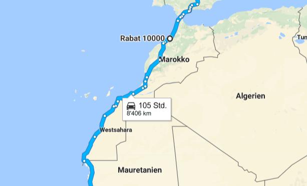Westafrika Route